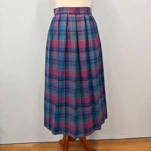 Vintage PENDLETON Pleated Wool Skirt Size 8